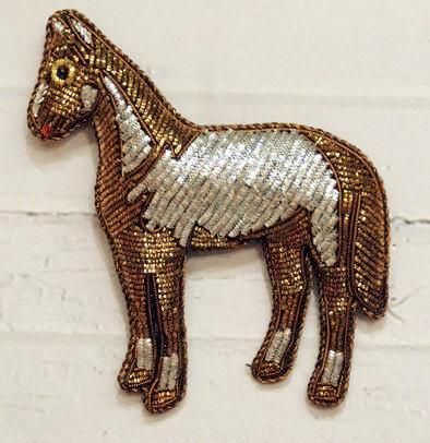 Sequined Horse Ornament - Squirrels and More