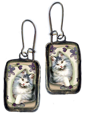 Cat Kitten Handmade Earrings