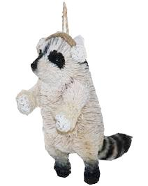 Raccoon w/Earmuffs Brushkin Ornament