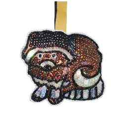 Sequined Raccoon Ornament