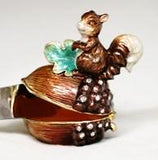 Squirrel On Nut Jeweled Box