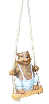 Swinging Squirrel Decoration