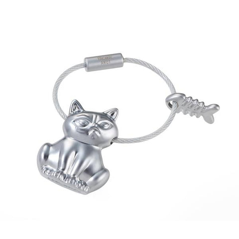 Bad Cat Keyring by Troika