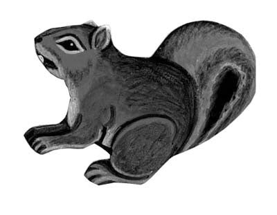 Gray Squirrel Leather Magnet - Squirrels and More