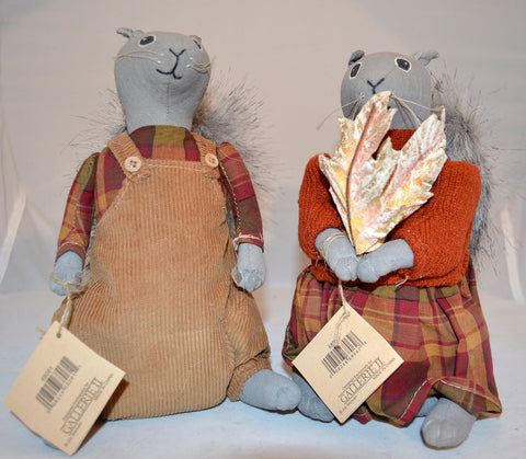 Buford and Bess Squirrel Dolls