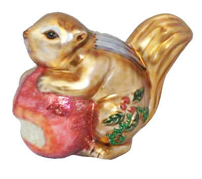 Glass Chipmunk Ornament - Squirrels and More