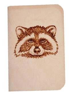 Raccoon Leather Journal