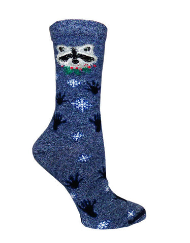 Holiday Raccoon Socks
