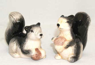 Squirrel Salt and Pepper Shakers - Squirrels and More