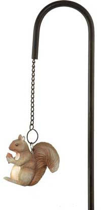 Squirrel Ornament Garden Stake