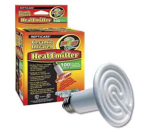 ReptiCare Ceramic Heat Emitter 100 Watt or 60 Watt
