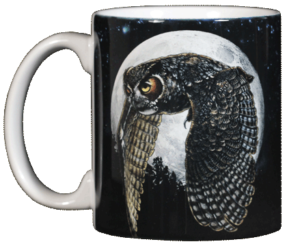 Hunter's Moon  Mug Owl - Squirrels and More