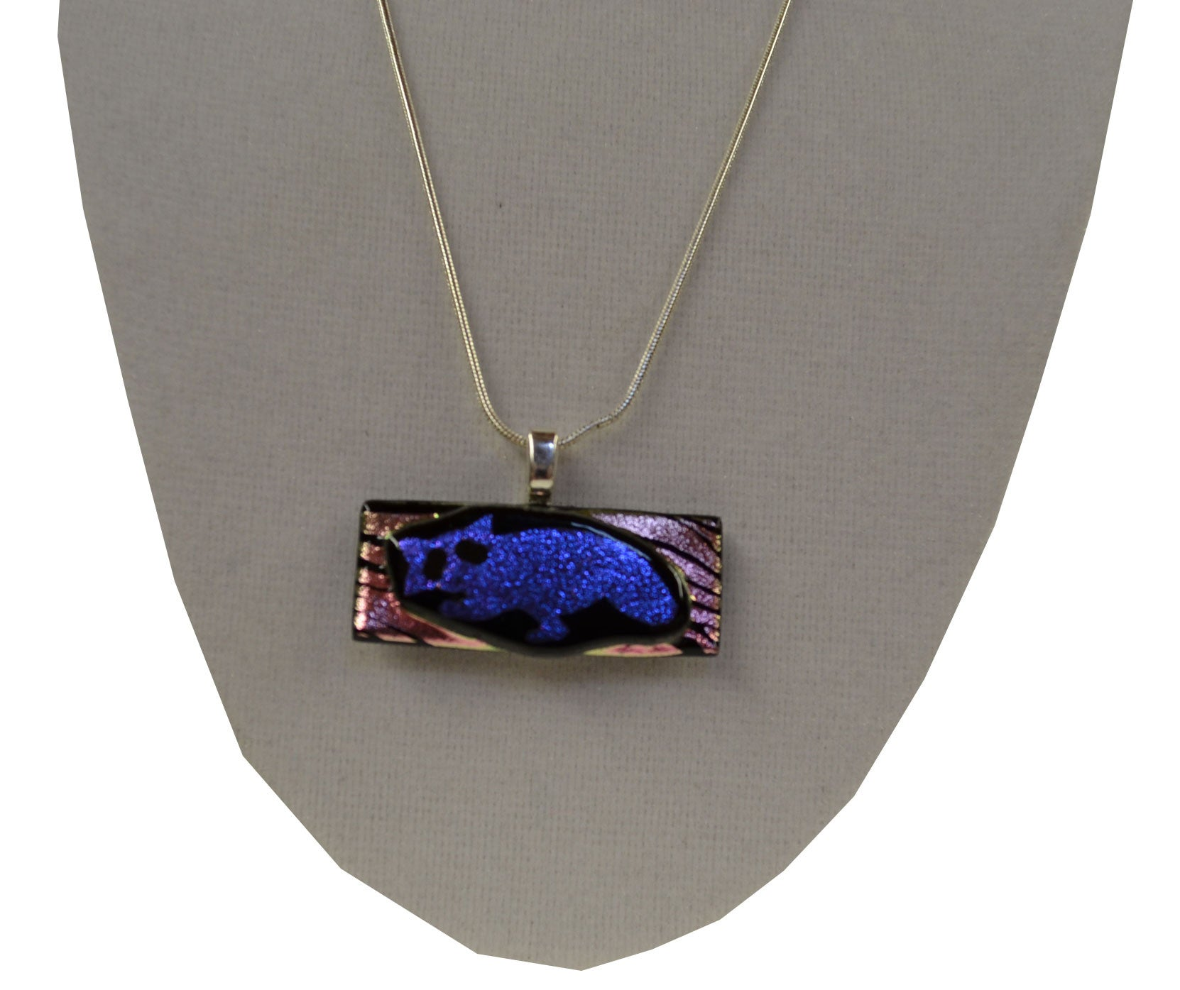 Zebra Print Raccoon Necklace - Squirrels and More