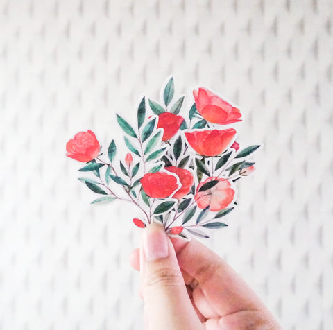 Roses sticker set