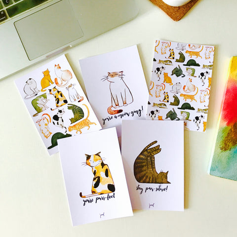 Lazy Cat Postcards (set of 10)