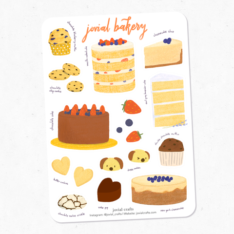 Jovial Bakery Vinyl Sticker