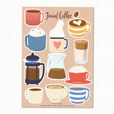 Jovial Coffee Vinyl Sticker