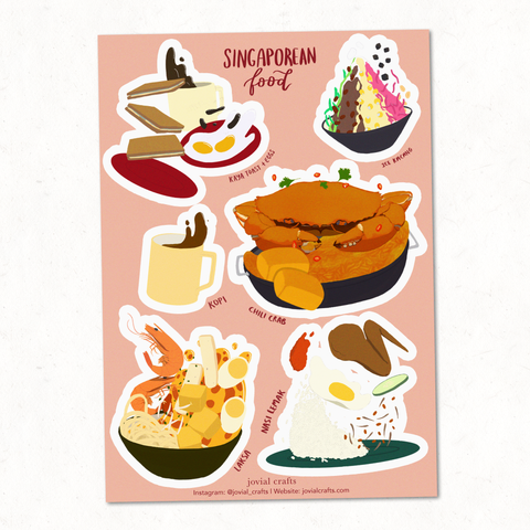 Singapore Food Vinyl Sticker