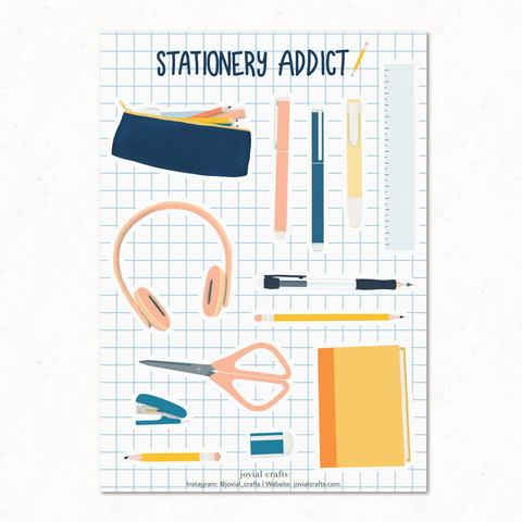 Stationery Addict Vinyl Sticker