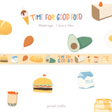 Time for Good Food Washi Tape