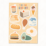 Time for good food Vinyl Sticker