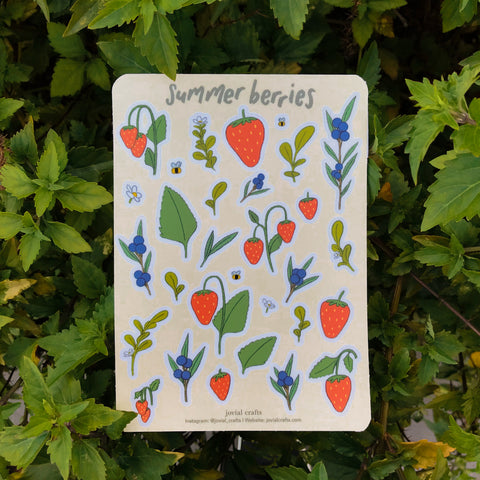 Summer Berries Vinyl Sticker