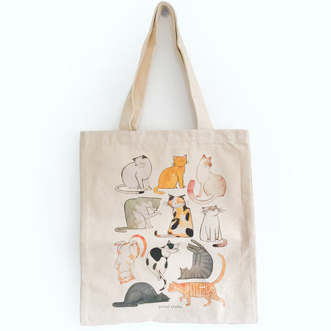 Lazy Cat Tote Bag