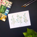 Watercolour Leaves Prints
