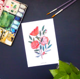 Watercolour Roses Prints