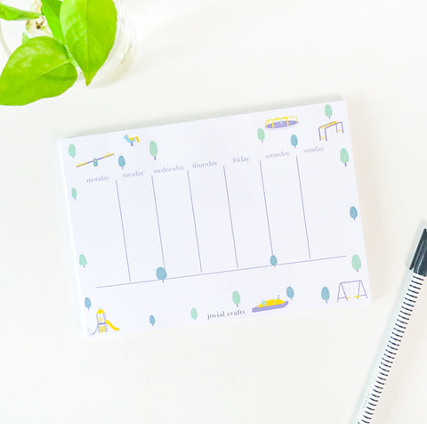 Small Moments Weekly Planner - Playground