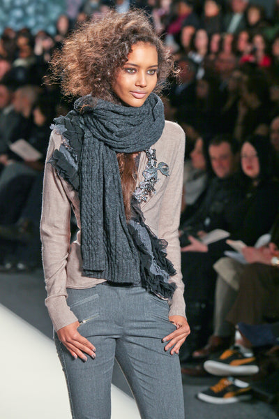 4 Stylish Ways to Wear Your Scarf_Fall Winter_Tracy Reese Collection Runway Fashion Style Trends