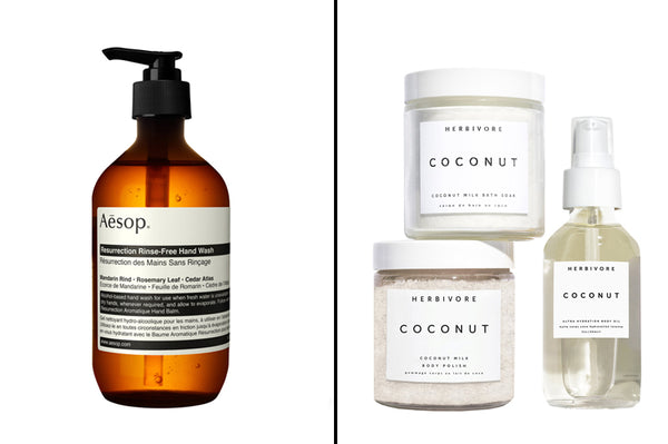 Aesop Hand Wash and Coconut Beauty & Body Trio Kit
