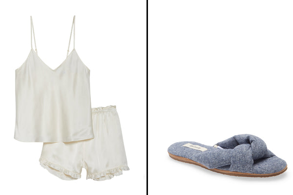 Silk Pajamas and Slippers_Valentine's Day Gift Ideas for Her