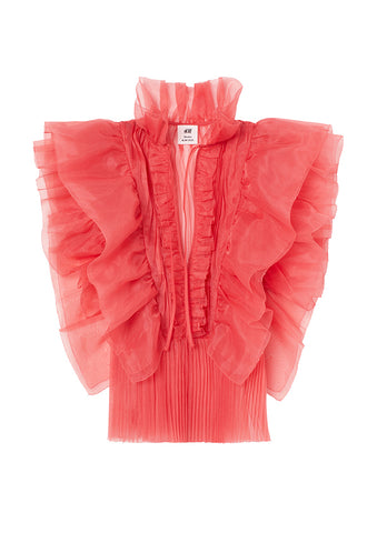 Flounced Organza Blouse H&M Studio Collection AW 20
