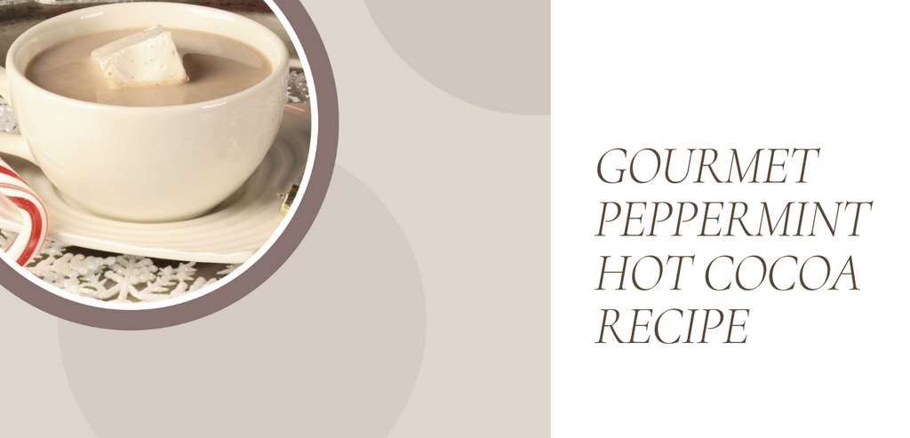 Make the best cup of gourmet peppermint hot cocoa