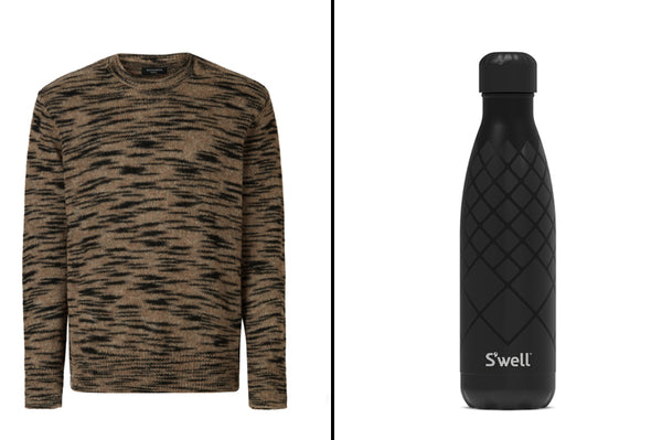 Men's Sweater and Water Bottle -  Last Minute Gift Ideas for Men
