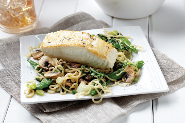 Miso Halibut with Soba Noodle Stir-Fry Post-Workout Recipe
