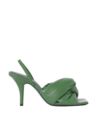 Green Padded Leather Sandals H&M Studio Collection AW 2020