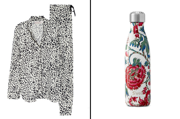 Print Pajamas and Water Bottle_Gift Ideas for Her