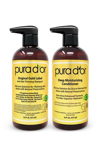 Pura D'or Gold Label Shampoo and Biotin Deep Moisturizing Conditioner