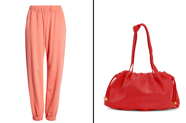 Jogger Sweatpants and Leather Bag_Valentine's Day Gift Ideas for Her