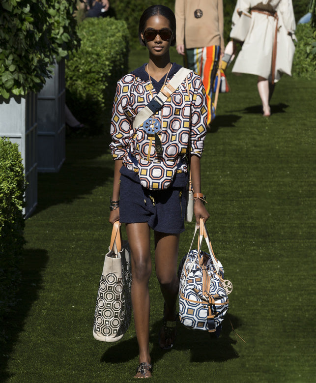Printed Tote Bags Spring Summer Tory Burch Collection