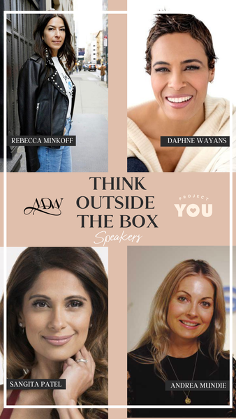 Think Outside the Box Webinar Event with Fashion Designer Rebecca Minkoff, Daphne Wayans, Sangita Patel and Andrea Mundie