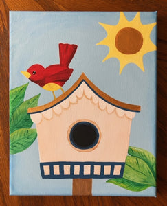 Bird House Painting