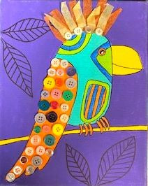 Parrot using Mixed Media