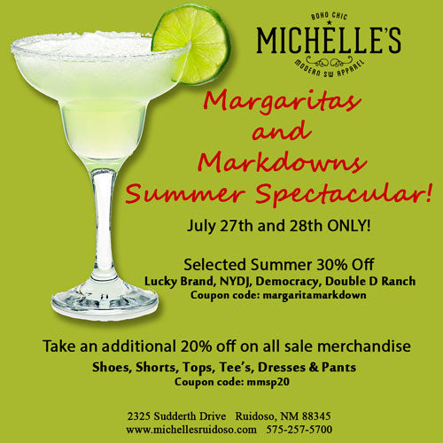 Margaritas and Markdowns Summer Spectacular