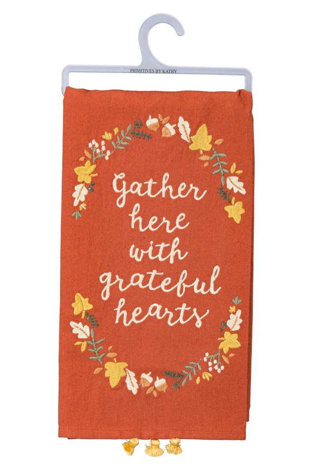 PBK - Gather Here with Grateful Hearts Dish Towel (P100862)