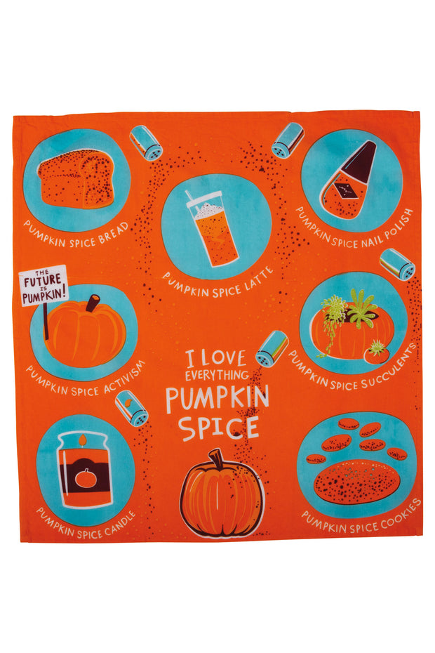 Primitives by Kathy - I Love Everything Pumpkin Spice Dish Towel (P102736)