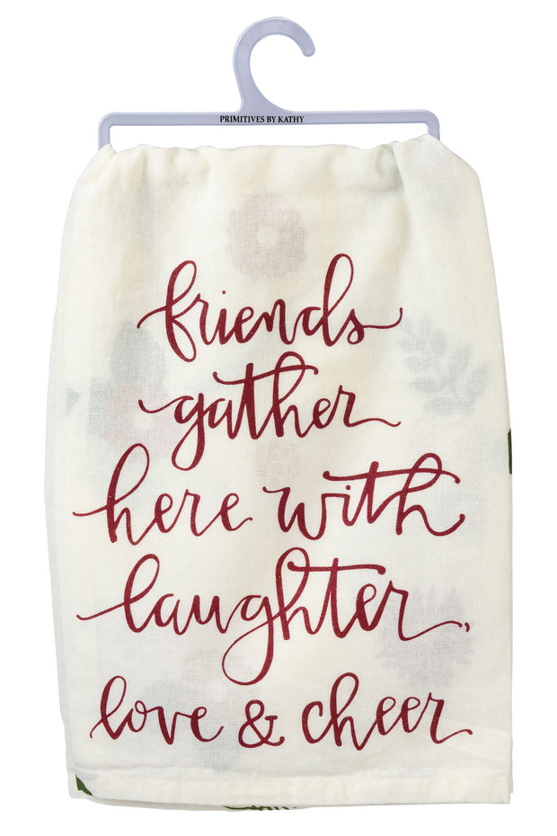 PBK - Friend Gather with Love and Cheer Dish Towel (P103696)