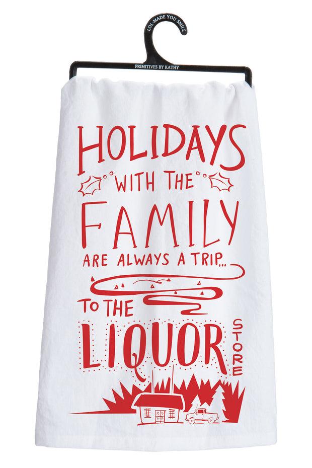PBK - Holidays with the Family Dish Towel (P25529)
